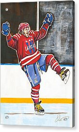 Alexander Ovechkin 2015 Winter Classic Acrylic Print by Dave Olsen