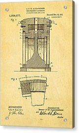 Alexanderson Altenator Patent Art 1911  Acrylic Print by Ian Monk