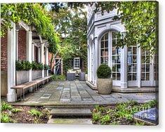Acrylic Print featuring the photograph Alexandria Courtyard by ELDavis Photography