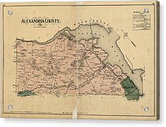 Alexandria Virginia 1878 Acrylic Print