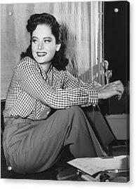 Alexis Smith, Ca. Mid-1940s Acrylic Print by Everett