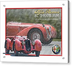Alfa Romeo 8c 2900b Mm Acrylic Print