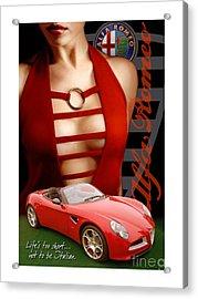 Alfa Romeo Dress Acrylic Print