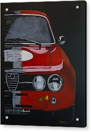 Acrylic Print featuring the painting Alfa Romeo Gtv  by Richard Le Page