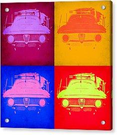 Alfa Romeo  Pop Art 2 Acrylic Print by Naxart Studio