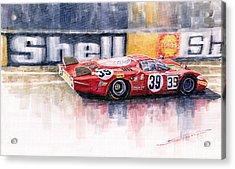 Alfa Romeo T33 B2 Le Mans 24 1968 Galli Giunti Acrylic Print by Yuriy  Shevchuk