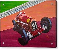 Acrylic Print featuring the painting Alfa Romeo Tipo B P3  by Anna Ruzsan