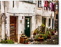 Alfama Houses Acrylic Print by Paul Donohoe