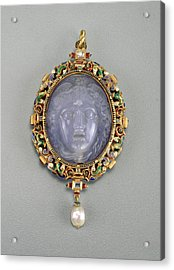 Alfred André French, 1839 - 1919, Pendant With The Head Acrylic Print
