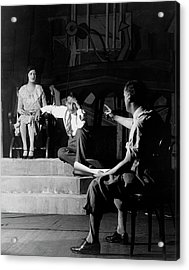 Alfred Lunt On Stage With Lynne Fontanne Acrylic Print