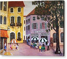 Acrylic Print featuring the painting Alfresco by Renate Voigt