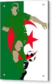 Algeria Soccer Player3 Acrylic Print by Joe Hamilton