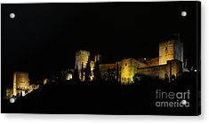 Acrylic Print featuring the photograph Alhambra At Night by Rudi Prott