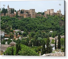 Alhambra - Granada - Spain Acrylic Print by Phil Banks