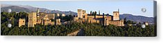 Acrylic Print featuring the photograph Alhambra Palace - Panorama by Nathan Rupert
