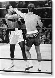 Ali-quarry Fight Acrylic Print by Underwood Archives