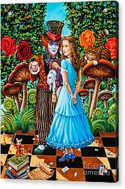 Alice And Mad Hatter. Part 2 Acrylic Print