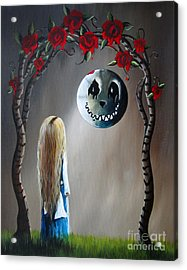 Alice In Wonderland Original Artwork - Alice And The Beautiful Nightmare Acrylic Print by Shawna Erback
