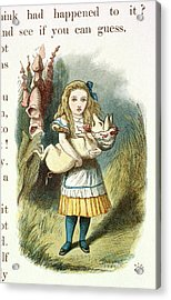 Alice And The Pig-baby Acrylic Print by British Library