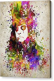 Alice Cooper In Color Acrylic Print by Aged Pixel
