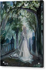 Alice Flagg - The Ghost Of Murrells Inlet Acrylic Print by Jane Woodward