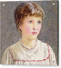 Alice Acrylic Print by Helen Allingham