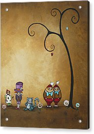 Alice In Wonderland Art - Encore - II Acrylic Print by Charlene Zatloukal