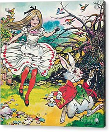 Alice In Wonderland Acrylic Print by Jesus Blasco
