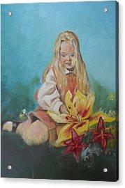 Alice In Wonderland Acrylic Print by Joyce Reid