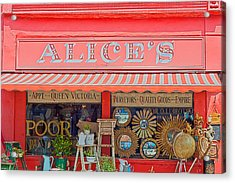 Alice's Antiques Acrylic Print by Georgia Fowler
