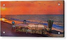 Alice's Topsail Island Tea Acrylic Print by Betsy Knapp