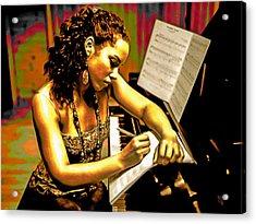 Alicia Keys Acrylic Print by  Fli Art