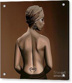 Alicia Keys  Acrylic Print by Paul Meijering
