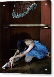 Alicia Markova In A Blue Tutu Acrylic Print