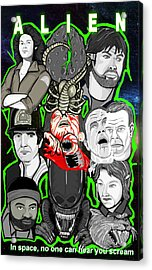 Alien 35th Anniversary Collage Acrylic Print by Gary Niles