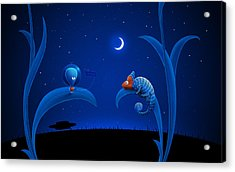 Alien And Chameleon Acrylic Print by Gianfranco Weiss