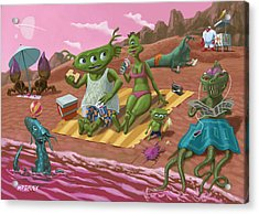 Alien Beach Vacation Acrylic Print by Martin Davey