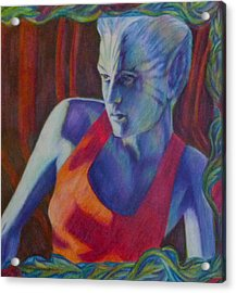 Acrylic Print featuring the painting Alien Beauty by Suzanne Silvir