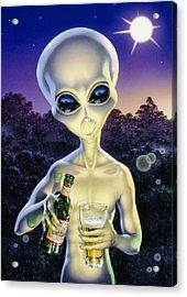 Alien Brew Acrylic Print by Steve Read