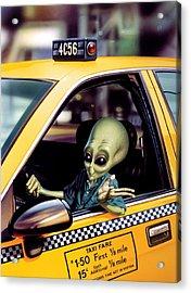 Alien Cab Acrylic Print