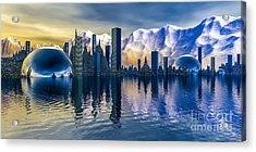 Alien Cityscape  Acrylic Print