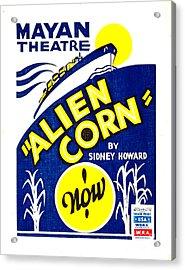 Alien Corn 1938 Acrylic Print by Padre Art