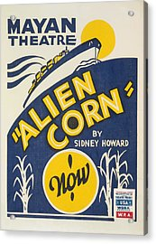Acrylic Print featuring the painting Alien Corn by American Classic Art