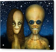 Alien Couple Acrylic Print