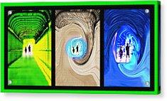 Alien Encounters Triptych Acrylic Print by Steve Ohlsen