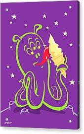 Alien Ice Cream -vector Version Acrylic Print by Martin Davey