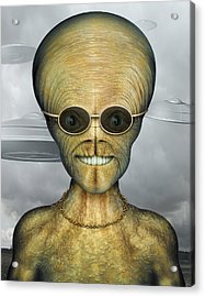 Alien Acrylic Print by James Larkin