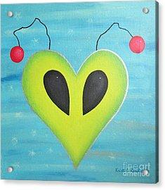 Alien Love Acrylic Print by Kristi L Randall