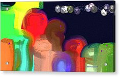 Alien Observations Acrylic Print by Lenore Senior