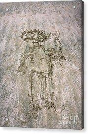 Alien On The Beach Acrylic Print